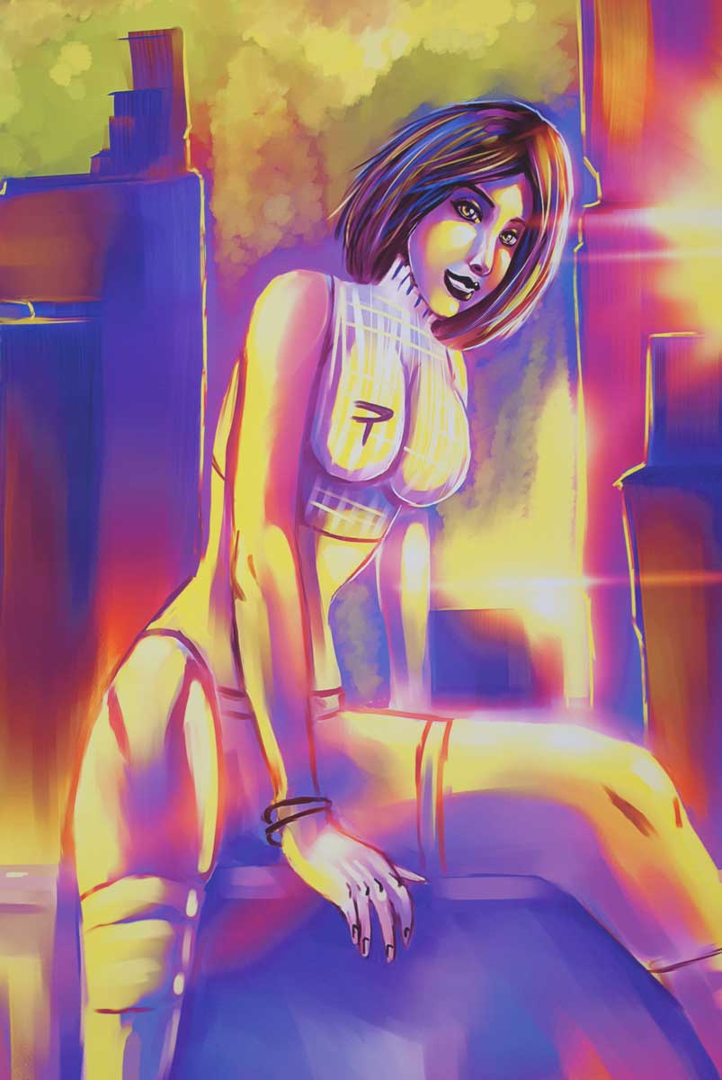 """Digital artwork print 6 from Thesian """"Thez"""" Smithen"""