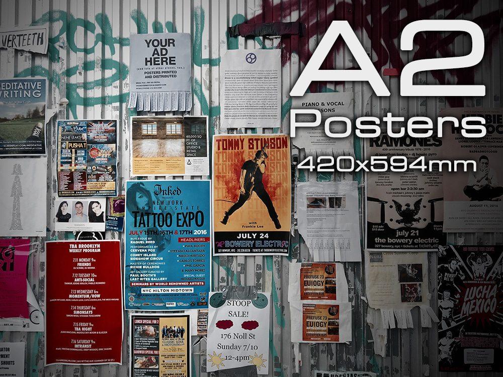 2 x A0 Poster Printing Full colour MATT Poster Printing