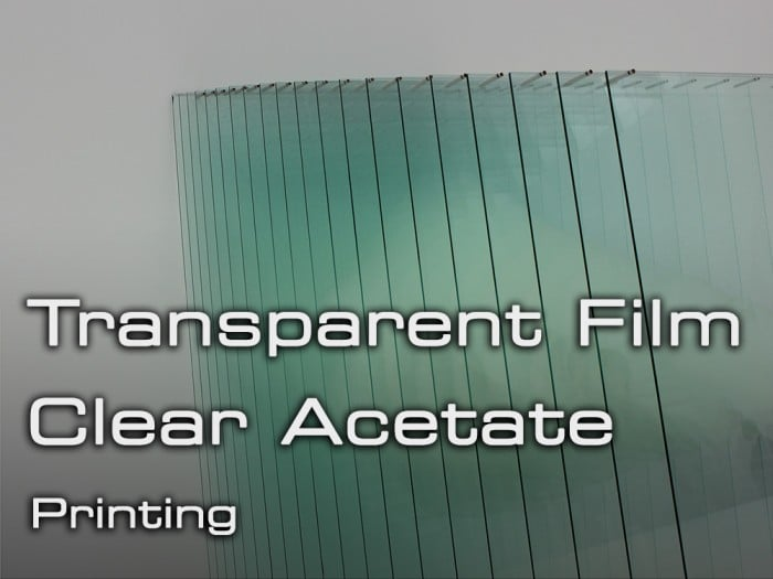 Acetate Printing - Transparent Clear Film Printing at Cycle Printworks Nottingham