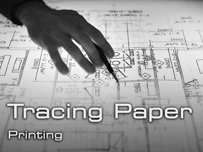 Tracing Paper Printing - Cycle Printworks Nottingham